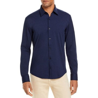 フューゴ メンズ シャツ トップス Ermo Mlange Stretch Jersey Regular Fit Performance Button Up Shirt