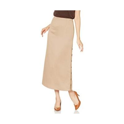 リリーブラウン サイドボタンロングスカート LWFS202083 レディース BEG 日本 0 (日本サイズ7 号相当)