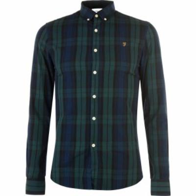 ファーラーヴィンテージ Farah Vintage メンズ シャツ トップス Farah Brewer Checked Shirt GILL GREEN