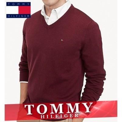 トミーヒルフィガー セーター ニット メンズ エッセンシャル ロゴ 無地 ワンポイント 丸首 XS〜XXL 新作 TOMMY