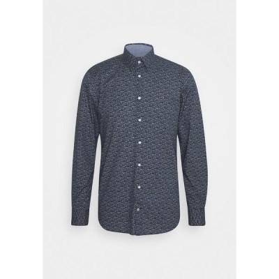 トミー ヒルフィガー シャツ メンズ トップス FLEX FLORAL PRINT SLIM - Shirt - navy/white