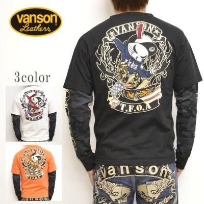 VANSON バンソン×クローズ WORST CRV-931 天竺 長袖Tシャツ ロンT T.F.O.A 武装戦線 メンズ