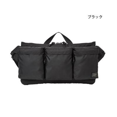 (PORTER/ポーター)吉田カバン ポーター フォース ボディバッグ ウエストバッグ メンズ ミリタリー 横型 PORTER 855-05460/ユニセックス ブラック