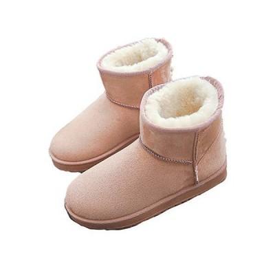 [SUNKAKU] ムートンブーツ ブーツ 厚底 冬 冬用 冬物 ショートブーツ ムートン ローヒール ブーツ カジュアル スエ