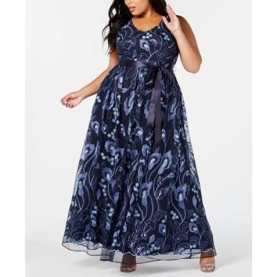 アールアンドエムリチャーズ レディース ワンピース トップス Plus Size Embroidered Gown