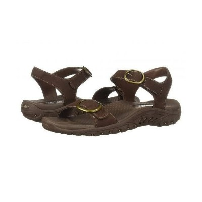 SKECHERS スケッチャーズ レディース 女性用 シューズ 靴 サンダル Reggae - Always Strapped - Chocolate