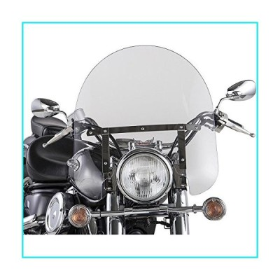 Slipstreamer 17in. Classic Windshield with Chrome Hardware - 17in.H x 23in.W - Clear【並行輸入品】