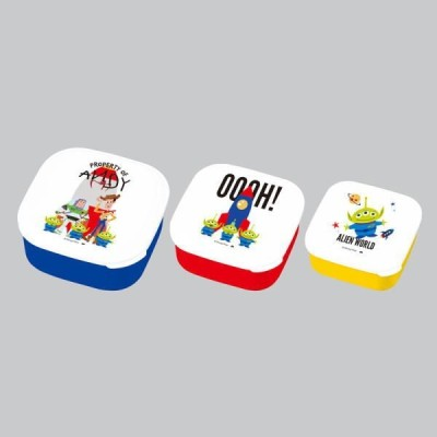 SALE☆ お弁当グッズ DISNEY・PIXAR TOY STORY/LUNCH SERIES トイストーリー/ランチシリーズ シール容器3ピースセット 〈ANDY'S TOYS〉
