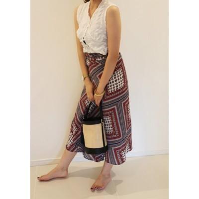 巻きスカート 2色 スカート 夏 涼しい 可愛い 腰ひも付き レディース