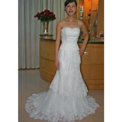 wdk307B ウエディングドレス マーメイドライン ビスチェタイプ