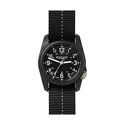 Bertucci DX3 Plus Watch Black w/Blaze - Blaze w/Black Dash Nylon & Cap 並行輸入品
