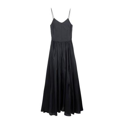 ジャッカ JUCCA ロングワンピース&ドレス ブラック 42 シルク 100% ロングワンピース&ドレス