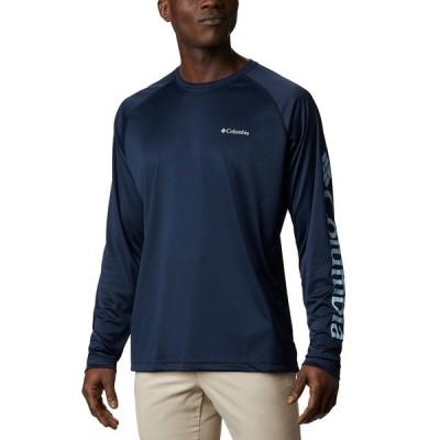 コロンビア シャツ トップス メンズ Men's Fork Stream Quick-Dry UPF 50 T-Shirt Collegiate Navy, Sky Blue