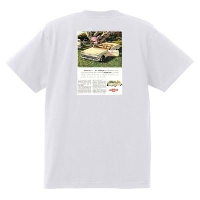 アドバタイジング シボレー インパラ 1958 Tシャツ 065 白 アメ車 ホットロッド ローライダー広告 ビスケイン ベルエア