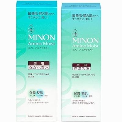 化粧水+乳液ミノン アミノモイスト 薬用アクネケアローション 150ml(4987107624871