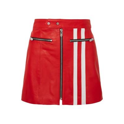 THE MIGHTY COMPANY ミニスカート レッド S 羊革(ラムスキン) 100% ミニスカート