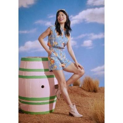 ハンゾウ Hangzhou HS Fashion Corporation Ltd. レディース オールインワン ワンピース・ドレス Tennessee Rose Romper Blue