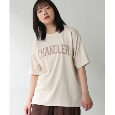 (Honeys/ハニーズ)カレッジプリントTシャツ/レディース アイボリー