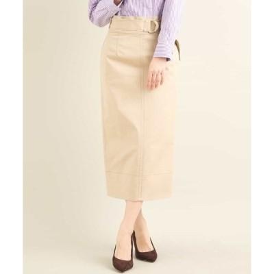 スカート 【洗濯機で洗える】ハイウエストナロースカート