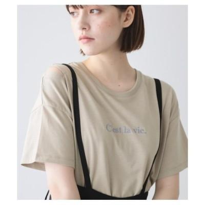 tシャツ Tシャツ C'est la vie.スリットショルダーT/SH