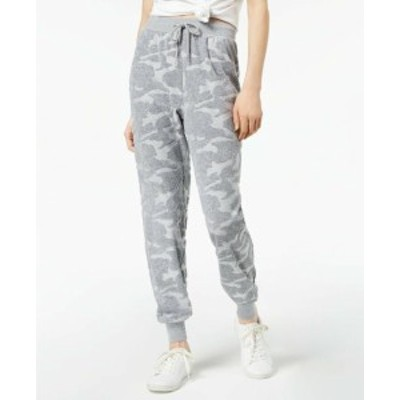 Jessica Simpson ジェシカシンプソン ファッション パンツ Jessica Simpson NEW Gray Womens Large L Camo Burnout Terry Jogger Pants
