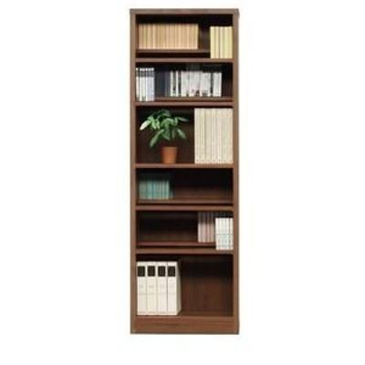ds-1747594 本棚/ブックシェルフ 【幅60cm】 高さ180cm 可動棚板8枚付き 木目調 日本製 ブラウン 【完成品】【代引不可】 (ds1747594)