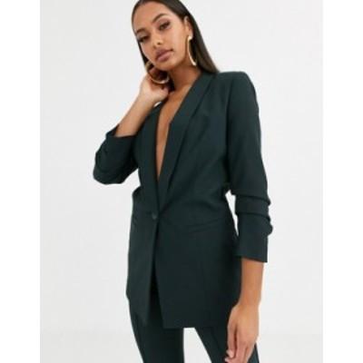 エイソス レディース ジャケット・ブルゾン アウター ASOS DESIGN mix & match suit blazer Green