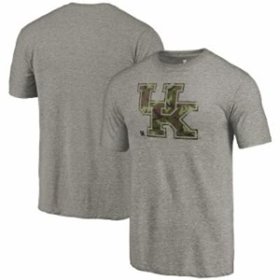 Fanatics Branded ファナティクス ブランド スポーツ用品  Fanatics Branded Kentucky Wildcats Heathered Gray Camo Prestige Tri-Blend
