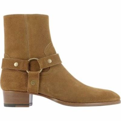 イヴ サンローラン Saint Laurent メンズ ブーツ シューズ・靴 Wyatt Harness Boots Beige