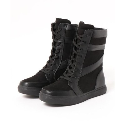 ブーツ 異素材ミックススニーカーブーツ