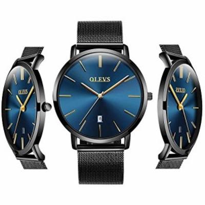 特別価格送料無料OLEVS 安価な腕時計 メンズ アナログ クォーツ ビジネスウォッチ ステ