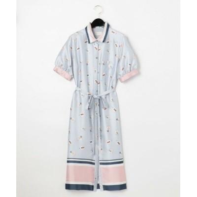 GRACE CONTINENTAL/グレースコンチネンタル プールサイドシャツワンピース ブルー 36