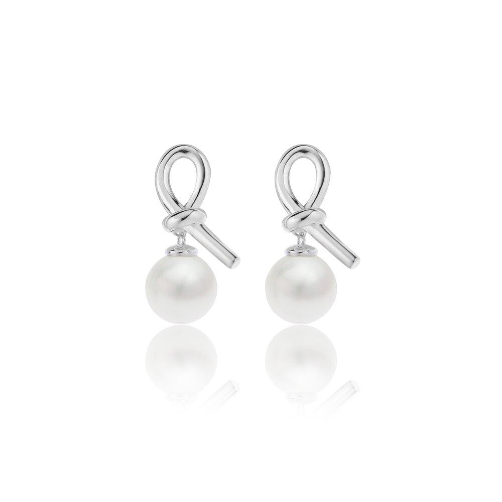 大東山珠寶 第一夫人系列 永結同心 南洋貝寶珠 925純銀 耳環