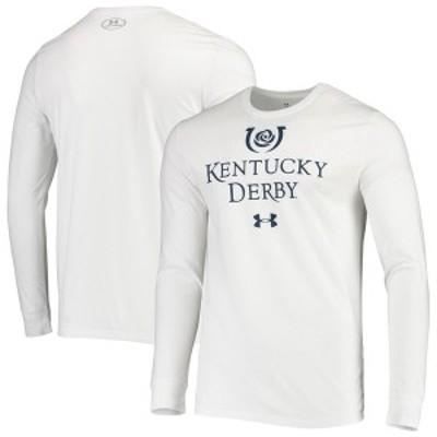 アンダーアーマー メンズ Tシャツ トップス 2020 Kentucky Derby Under Armour Performance Long Sleeve T-Shirt White