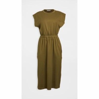 ナイティーパーセント Ninety Percent レディース ワンピース ワンピース・ドレス Dart Shoulder Dress Grungy Green