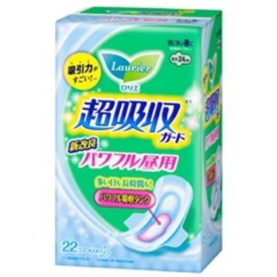 花王 KAO ロリエ 超吸収ガード パワフル昼用 羽つき 22コ入り 日用品・生活雑貨