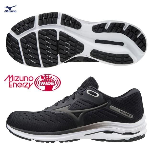【美津濃MIZUNO】WAVE RIDER 24 SW 超寬楦一般型男款慢跑鞋 J1GC200403