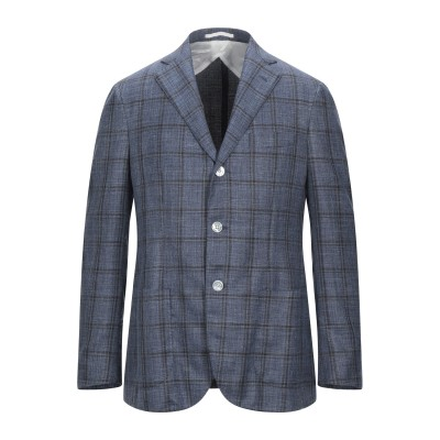 BARBA Napoli テーラードジャケット ブルー 52 ウール 68% / シルク 20% / リネン 12% テーラードジャケット