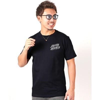 【ラグスタイル】 SANTA MONICAバックプリント半袖Tシャツ メンズ ネイビー XL LUXSTYLE