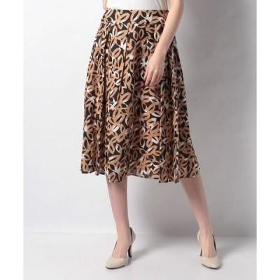 LAPINE BLANCHE / ラピーヌ ブランシュ インポート素材 リネン花柄プリントスカート