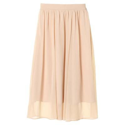 楊柳シフォンギャザースカート