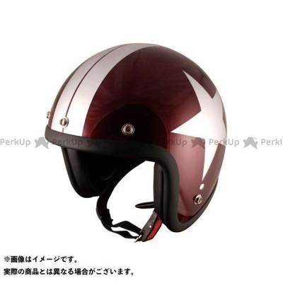 SPEEDPIT ジェットヘルメット JL-65 スモールジェット カラー:レッドビーンシルバースター サイズ:FREE(58-59cm) 送料無料…