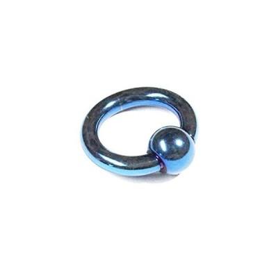 キャプティブビーズリング 6カラー10G/2.5mm10mmx6mm サージカルステンレススプリングボール ブルーカラー