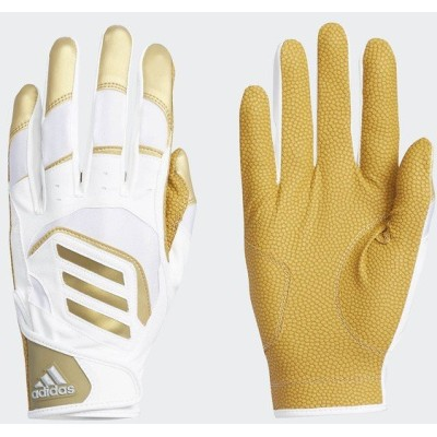 adidas アディダス 5T バッティンググラブ FTK85 DU9699 野球 大人 両手用 メンズ ホワイト/ゴールドメット セール