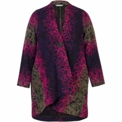 チェスカ Chesca レディース コート アウター Scribble Embroidered Coat Multi-Coloured