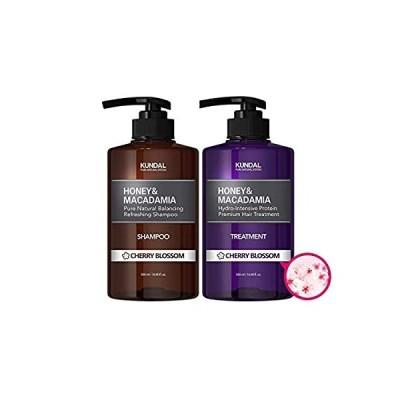 [KUNDAL公式]プレミアムヘアケアスペシャルセット チェリーブラッサム・シャンプー500ml&トリートメント500ml Premium Hair