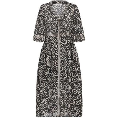 SEA 7分丈ワンピース・ドレス ブラック 0 レーヨン 100% 7分丈ワンピース・ドレス
