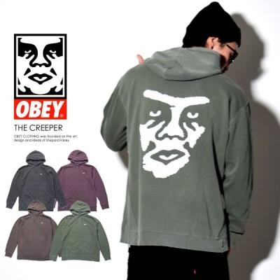 オベイ OBEY スウェットプルオーバーパーカー メンズ THE CREEPER