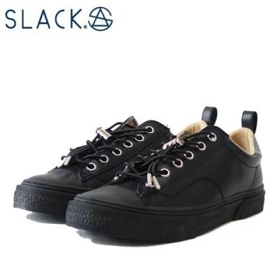 スラック  SLACK SL 1705 003(ユニセックス)CLUDE GL(クルード GL) カラー:BLACK / BLACK 天然皮革 ローカットスニーカー バルカナイズ製法