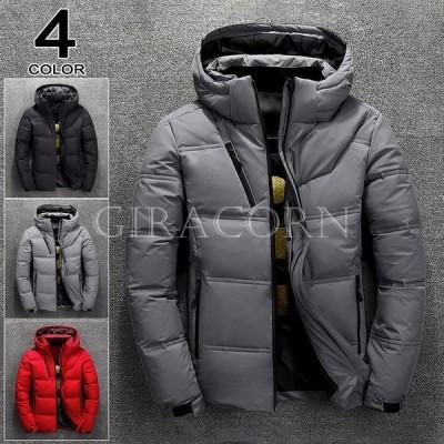 中綿ジャケット メンズ 中綿コート ボリュームネック フード付き 保温 防寒 ダウンジャケット 40代 50代 60代